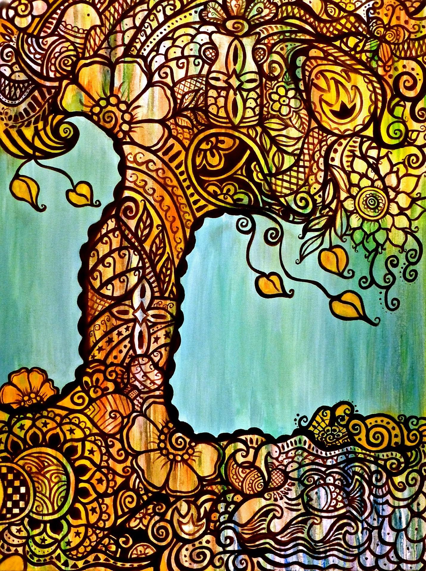 Mehndi Tree Of Life Prints