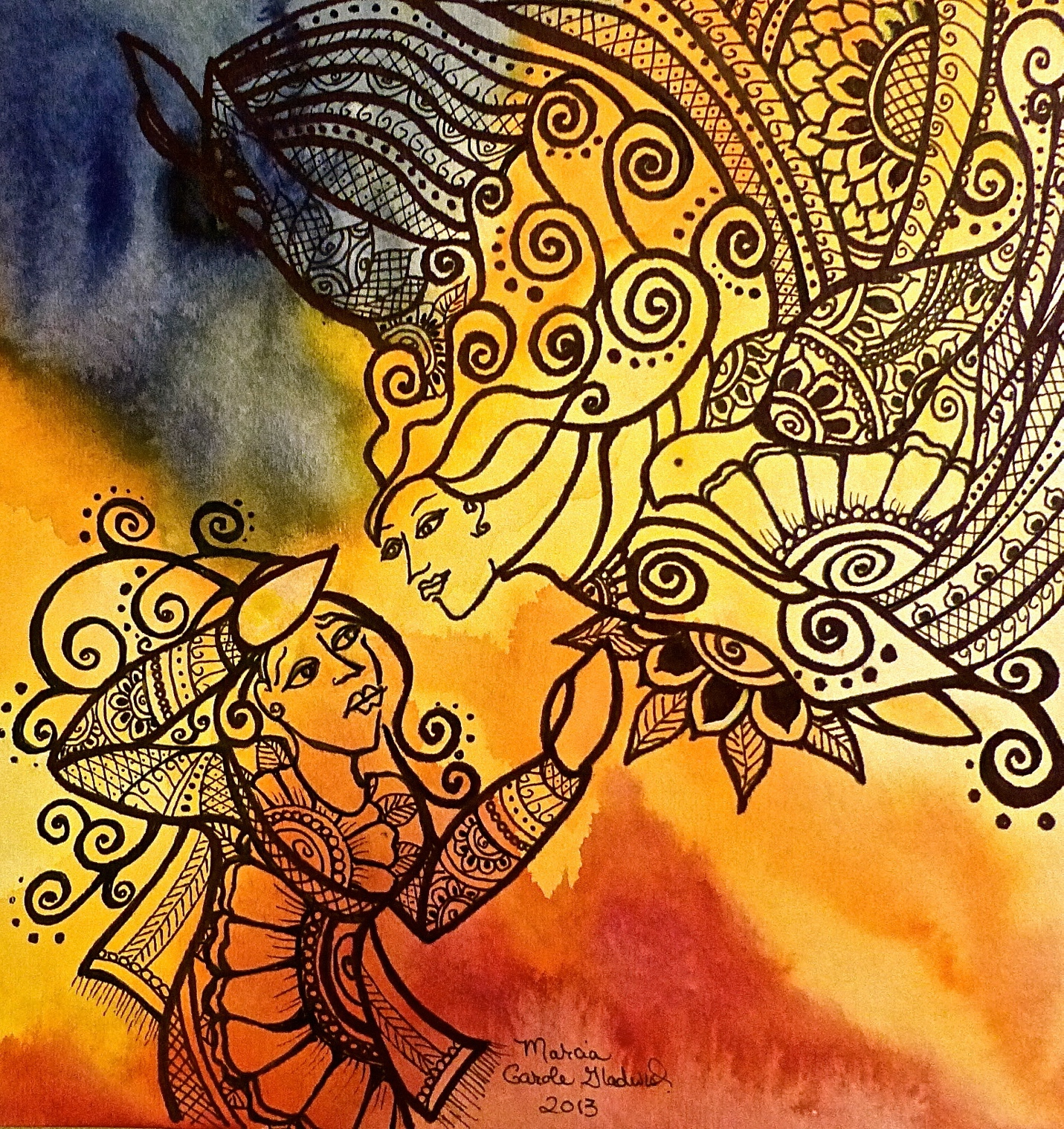 Annunciation – Mehndi Style, Completed
