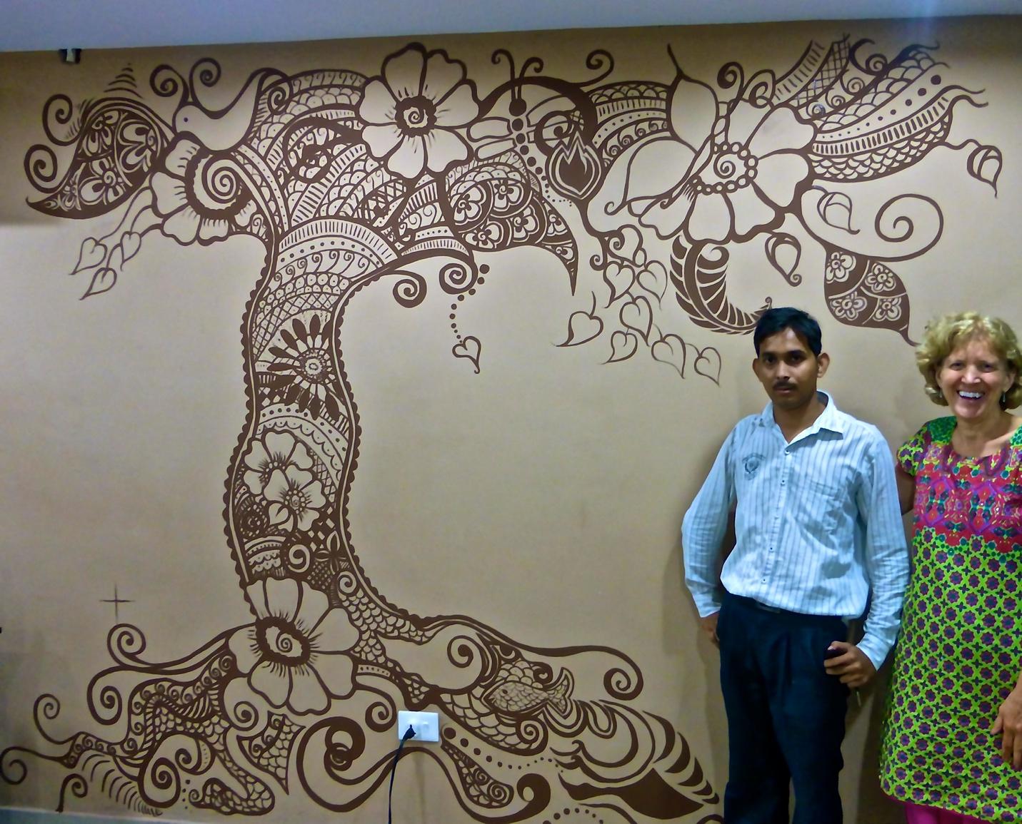 Completed Mural – Varanasi, India