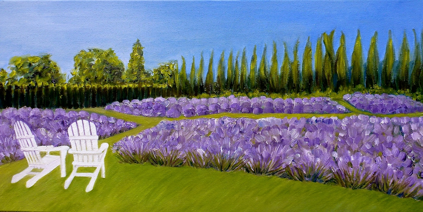 Lavender Farm Painting