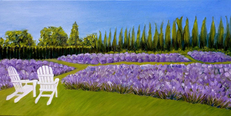 Lavender Farm Painting