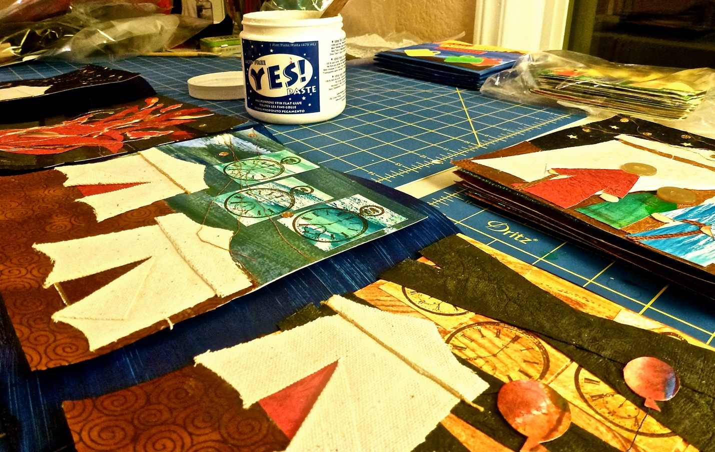 Completing A Collaged Book and More