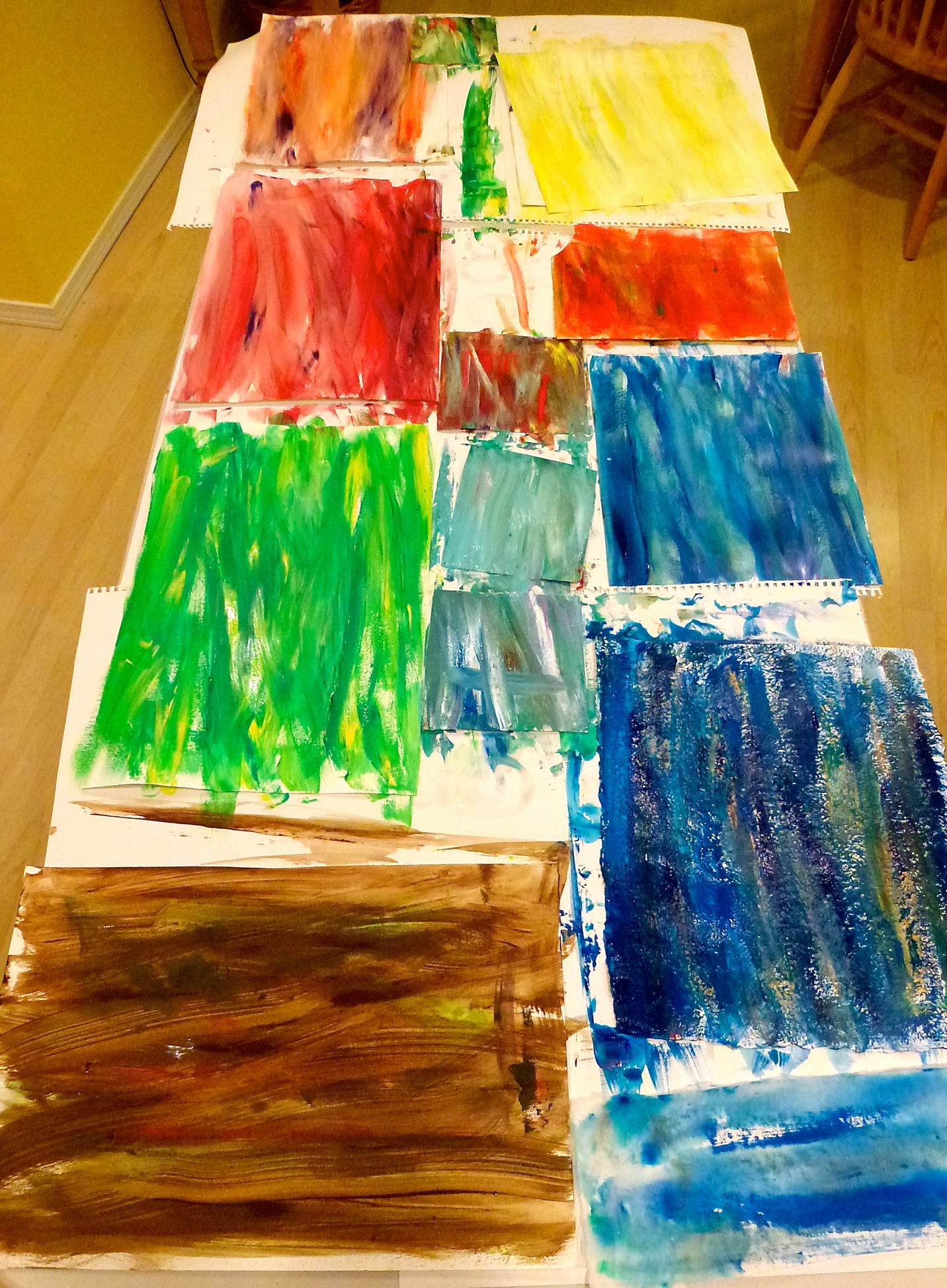 Painting Papers For Hannah and Hagar's Stories