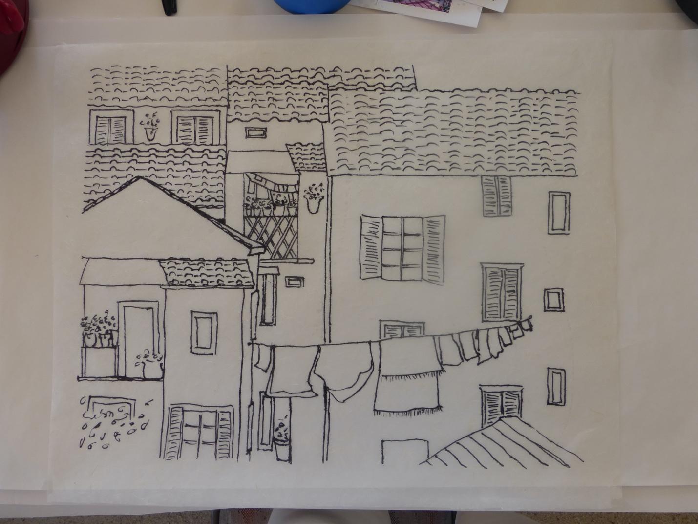 Watercolor Batik – First Try