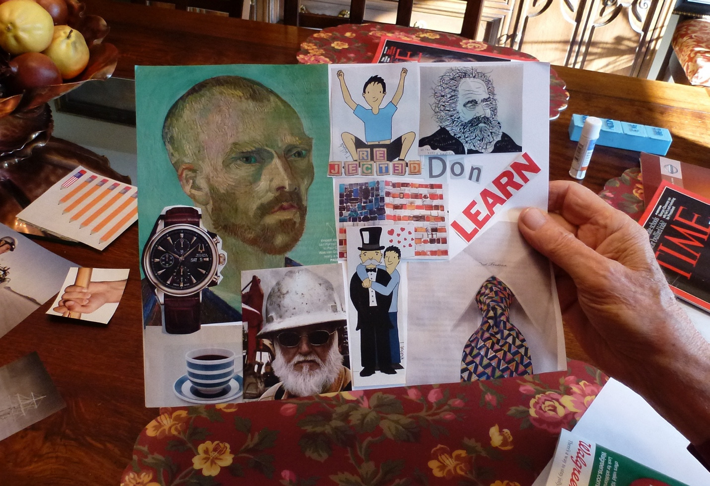 My Father's Collaged Story